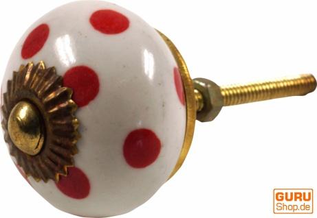 Kleiner Möbelknopf aus Keramik, Möbelknauf Möbelgriff, Schranktürknöpfe, Möbelknöpfe, Schubladengriff - Modell 33