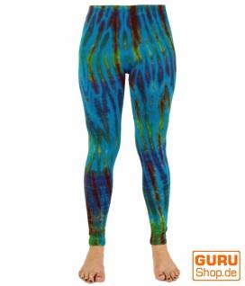 Batik Damen Leggings, Stretch Hose für Frauen, Yogahose - türkis