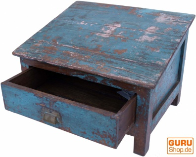 Boden Schreibpult, Truhe im Shabby Chic Look mit 1 Schublade - Modell 12 - Vorschau 2