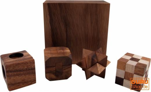 Holzspiel, Geschicklichkeitsspiel, Knobelspiel - 4 Puzzle