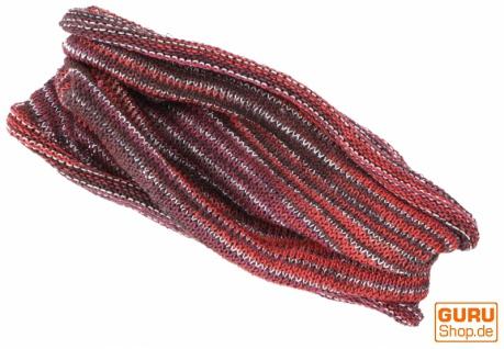 Magic Hairband, Dread Wrap, Schlauchschal, Stirnband - Haarband rot/weiß