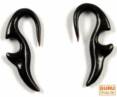 Horn Ohrring, Plug, Dehnungsspirale, Piercing - Model 8