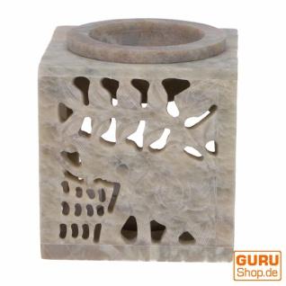 Indische Duftlampe, ätherisches Öl Diffusor, Teelicht Halter für Aromatherapie, Aromalampe aus Speckstein - Würfel Elefant 1 - Vorschau 4