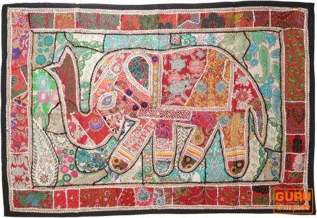 Indischer Wandteppich Patchwork Wandbehang, Einzelstück 150*100 cm - Muster 37