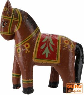 Deko Pferd, im Antik- look bemalt - braun