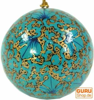Upcyceling Weihnachtskugel aus Pappmachee, Handbemalter Christbaumschmuck, Kaschmirkugeln - Muster 22