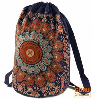 Turnbeutel Rucksack, indischer Mandala Schulterbeutel, Turnbeutel - orange