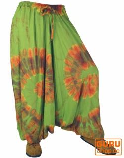 Batik Pluderhose Aladinhose - grün