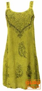 Besticktes indisches Minikleid Boho chic, Hippie Tunika - lemon Design 16