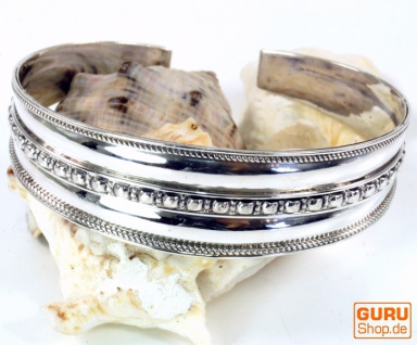 Boho Silber Armreifen, indische Armspange - Modell 1