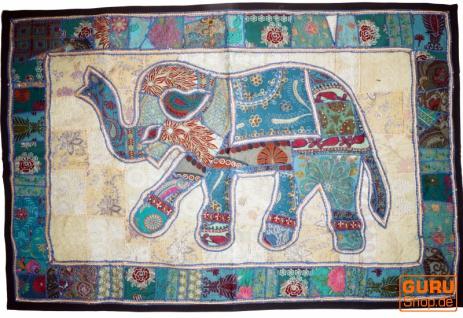 Indischer Wandteppich Patchwork Wandbehang, Einzelstück 150*100 cm - Muster 3