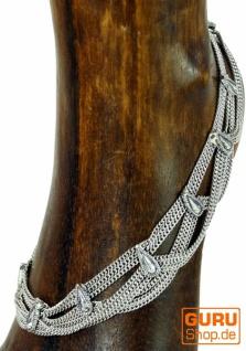 Indisches Fußkettchen, orientalische Weißmetall Fußkette - Model 11