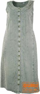 Besticktes Boho Sommerkleid, indisches Hippie Kleid, grau - Design 15