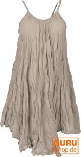 Boho Krinkelkleid, Minikleid, Sommerkleid, Strandkleid - taupe