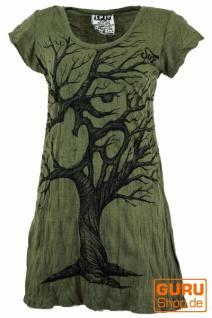 Sure Long Shirt, Minikleid OM Tree - olive
