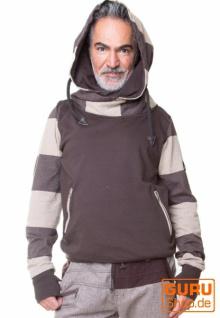 Pullover mit Kapuze aus Bio-Baumwolle / Chapati Design - choco
