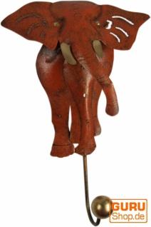 Kleiner Garderobenhaken, Metall Kleiderhaken - Elefant 1 - Vorschau