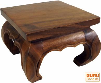 Opiumtisch, Teetisch, Blumenbank aus Massivholz - braun 30*30 cm