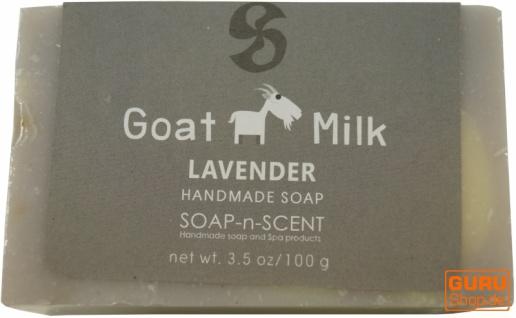Handgemachte Ziegenmilch Seife, 100 g Fair Trade - Lavendel