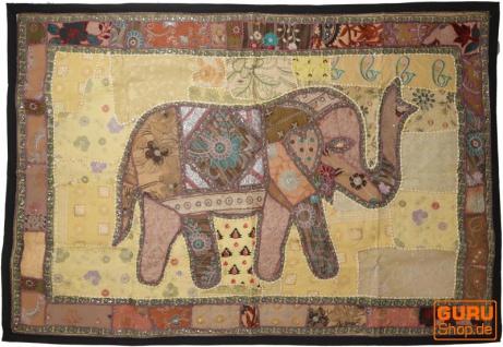 Indischer Wandteppich Patchwork Wandbehang, Einzelstück 150*100 cm - Muster 63