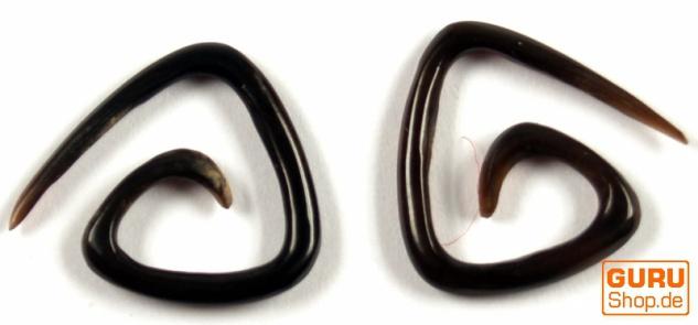 Horn Ohrring, Plug, Dehnungsspirale, Piercing - Model 3