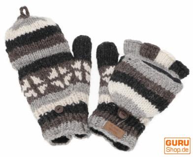 Handschuhe, handgestrickte Klapphandschuhe, Fingerhandschuhe - Modell 4