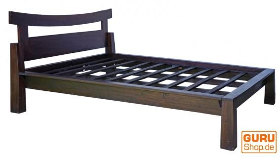 Doppelbett aus Vollholz im Asia-Kolonialstil 160 cm - Modell 1