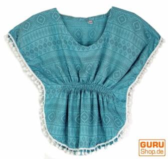 Poncho, Mädchenbluse, Tunika - blau