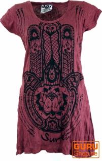 Sure Long Shirt, Minikleid Fatimas Hand - bordeaux