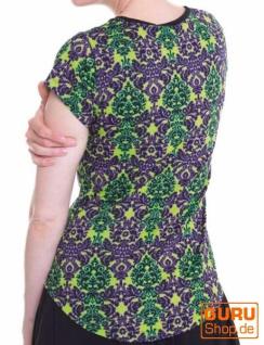 Shirt aus Bio-Baumwolle / Chapati Design - mint multi