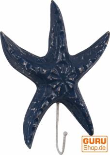 Wandhaken - Seestern antikblau 2