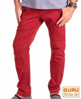 Hose aus Bio-Baumwolle / Chapati Design - burgundy