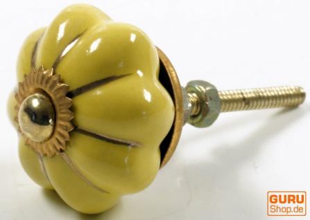 Kleiner Möbelknopf Rose aus Keramik, Möbelknauf Möbelgriff, Schranktürknöpfe, Möbelknöpfe, Schubladengriff - Modell 6