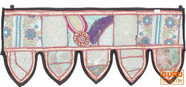 Orientalischer Wandbehang, indischer Toran, Wimpel Wandteppich, Wanddekoration, Tür Deko Einzelstück 85*35 cm - Design 2