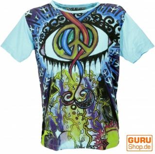 Mirror T-Shirt - Peace /hellblau