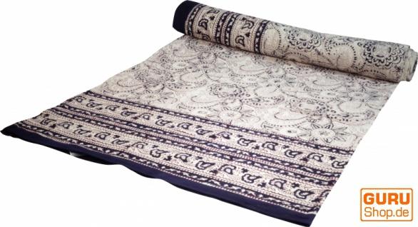 Blockdruck Tagesdecke, Bett & Sofaüberwurf, handgearbeiteter Wandbehang, Wandtuch - Muster 4