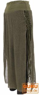 Psytrance Goa Rock, Panel Skirt, langer Cacheur - olivgrün