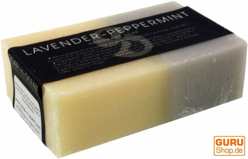 Handgemachte Duftseife, 100 g Fair Trade - Lavendel / Pfefferminz