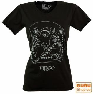 Sternzeichen T-Shirt `Jungfrau` - schwarz