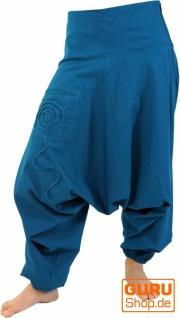 Goa Pluderhose, Aladinhose - blau