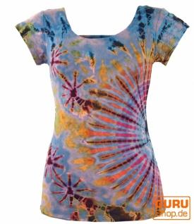 Batik Hippie T-Shirt - hellblau
