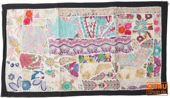 Indischer Wandteppich Patchwork Wandbehang, Tischläufer, Einzelstück 85*45 cm - Muster 15