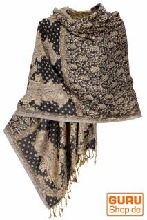Indischer Schal, Stola mit Paislay Muster, Schultertuch - Motiv 6