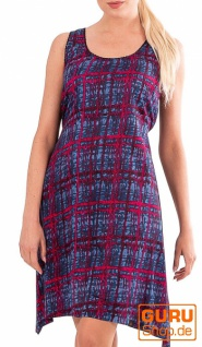 Knielanges Kleid, ärmellos / Chapati Design - blue brick