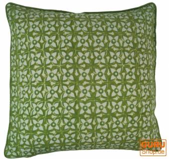 Kissenbezug Blockdruck, Kissenhülle Ethno, Dekokissen Bezug mit traditionellem Design - Muster 8