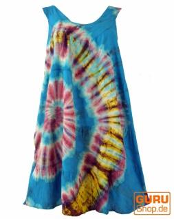 Batik Tunika, Hippie chic, Strandkleid - blau