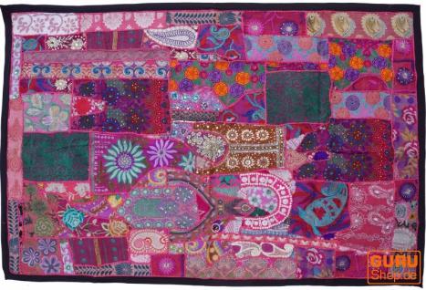 Indischer Wandteppich Patchwork Wandbehang, Einzelstück 150*100 cm - Muster 20