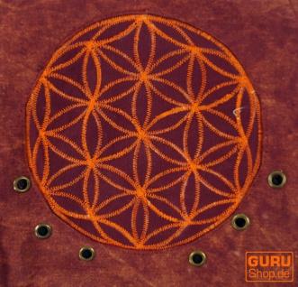 Ethno Schultertasche, Nepaltsche Stonewash `Mandala`- rot - Vorschau 3