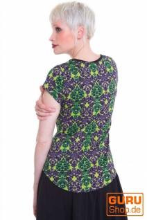 Shirt aus Bio-Baumwolle / Chapati Design - mint multi - Vorschau 2