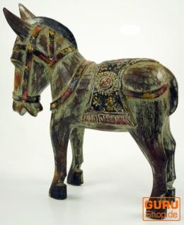 Geschnitztes Pferd, Dekoobjekt aus Holz - Design 2